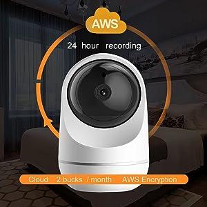 AWS, 24 recording, security camera, wifi camera,wireless security camera, indoor security camera,