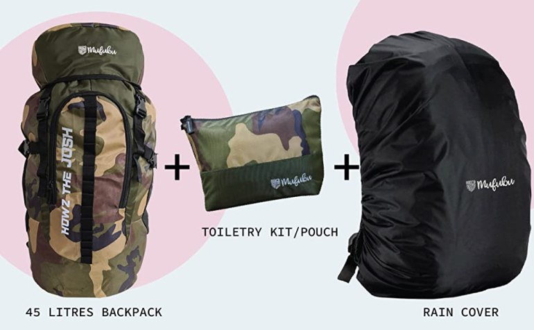 backpack rain cover pouch kit toiletry bag
