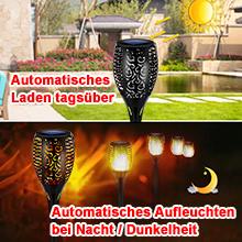 Solarlampe Gartenfackeln