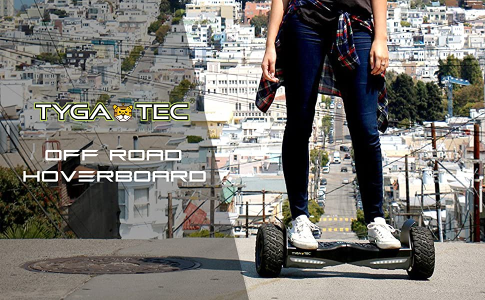 Tygatec Self Balancing Hoverboard with Music Speakers and LED Lights