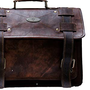 brown leather briefcase bag for men