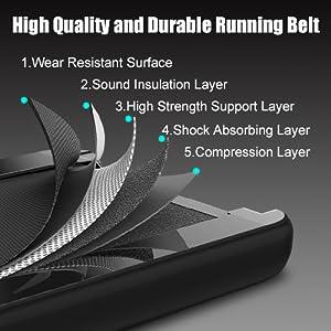 5 layers running belt