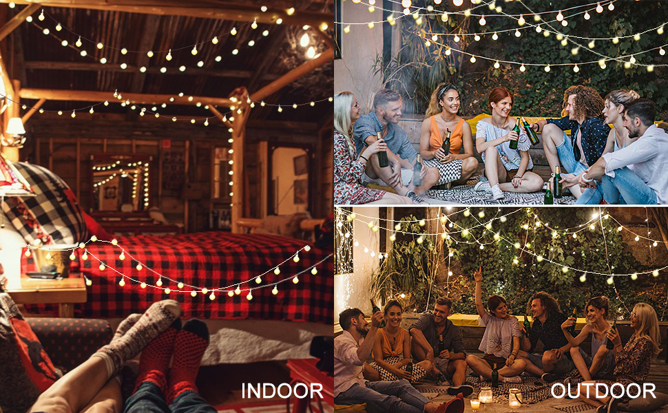 LED Globe String Lights for Bedroom Fairy Light 33ft 100 LED Plug in Window Curtain Wall Decorations