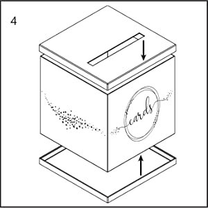 printed wedding gift card box assembly