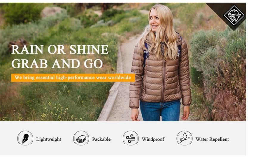 winter packable women jacket