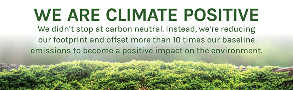 We are Climate Positive.