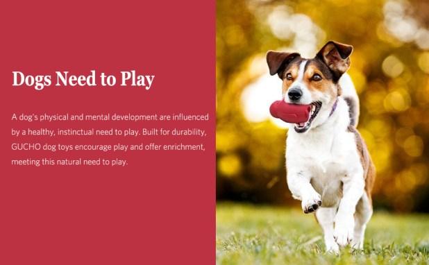 Freezable Stuffable Puppy Treat Teething Chew Toys