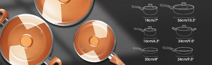 Equipped with see-through tempered glass lids, you can know the cooking status clearly