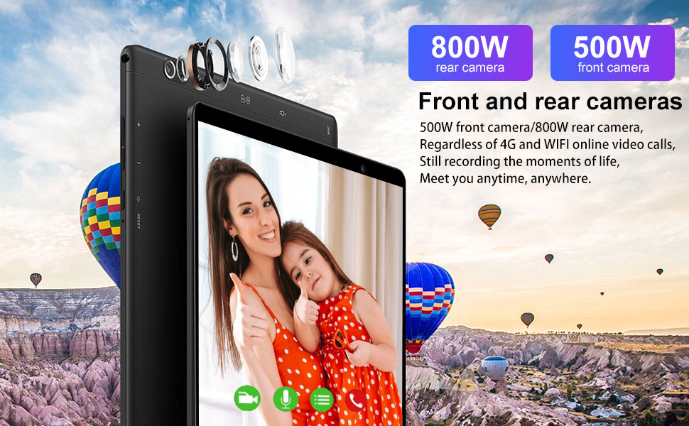 Tablet 10 Pollici 4G LTE Tablet Android 10, Tablet PC con fotocamera da 8 MP + 5 MP