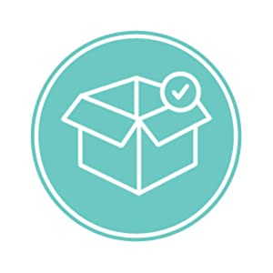 Box icon with check mark innovated products developed in house