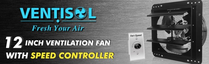 12inch ventilation fan with speed controller