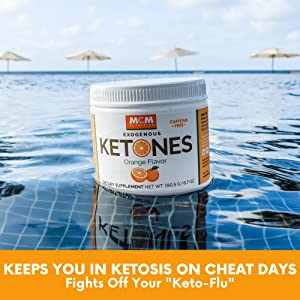 orange Exogenous Ketones Bhb keto flu ketosis supplement diet energy focus suppress appetite