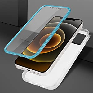 inbuilt protector screen-guard mvyno cover front and back blue 360 protection