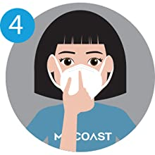 milcoast disposable face mask instructions how to put on step 4