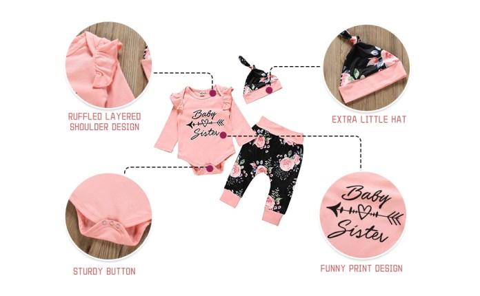 baby girls outfits set 3 pcs