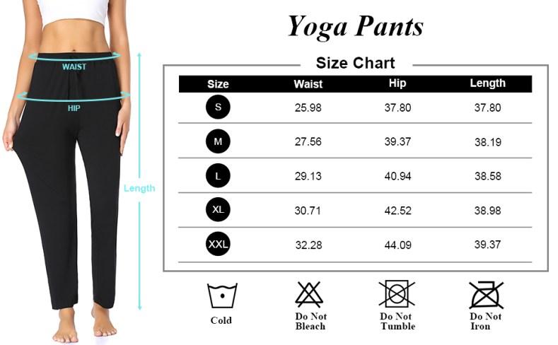 ASIMOON Lounge Casual Pants Size Chart