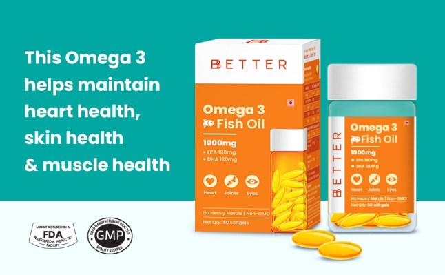 Omega 3, Omega 3 fish oil supplement softgels, Omega 3 fatty acid supplement for women and men