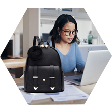 Mini Backpack Purse for Women Teenage Girls Purses PU Leather Pom Backpack Shoulder Bag