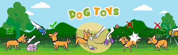 back ground-dog toys