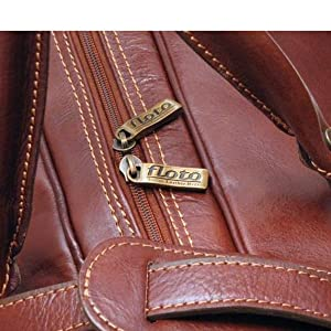 leather bag inside