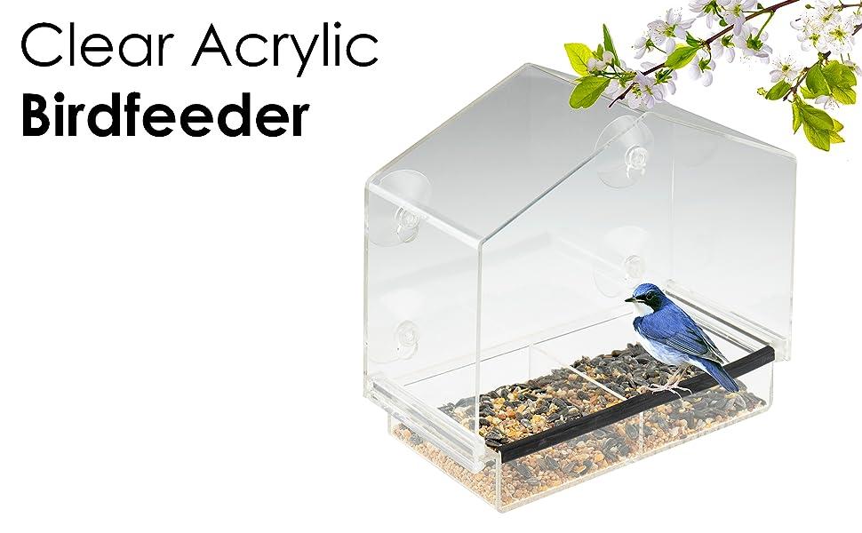 clever-garden-clear-acrylic-birdfeeder