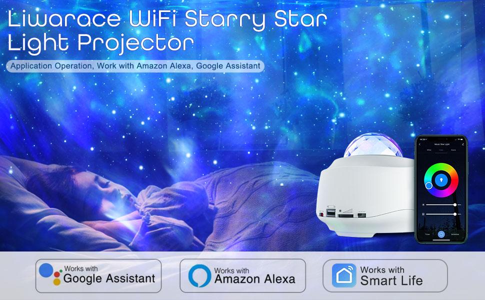 Liwarace WiFi Starry Star Light Projector Liwarace WiFi Starry Star Light Projector