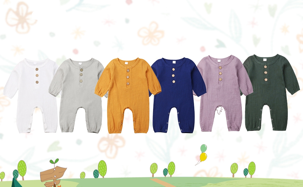 baby girl long sleeve rompers 12 18 months  jumpsuits basic plain solid color clothes cute clothes