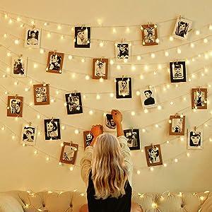 Curtain String Lights bedroom