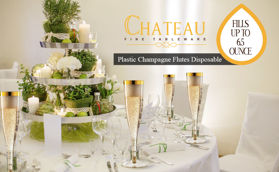 Plastic Champagne Flutes Disposable Weddings Anniversaries new year eve 2021 Thanksgiving