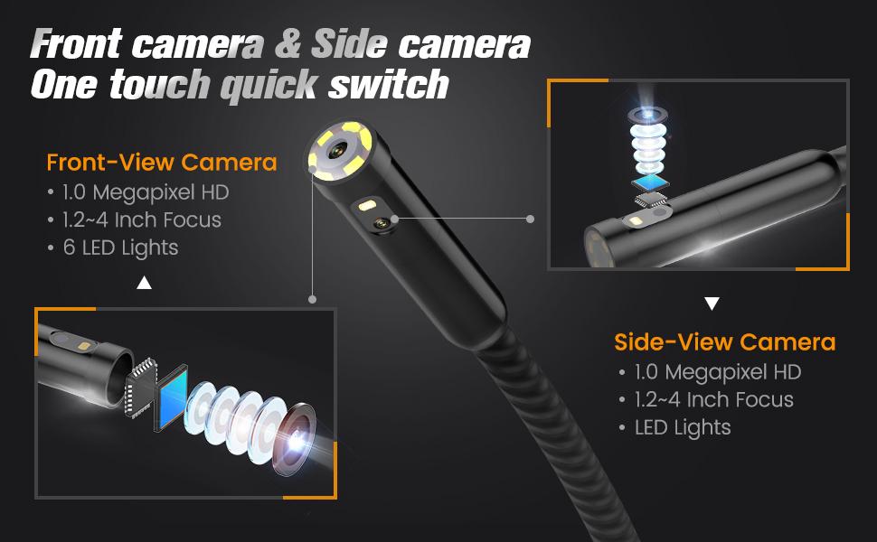 Çift Lensli Kamera Borescope