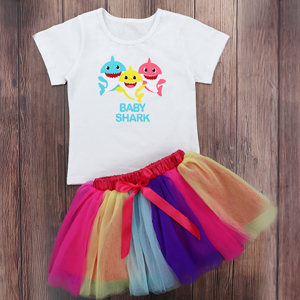 baby shark birthday tutu dress