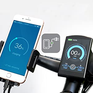 phone holder with charging function
