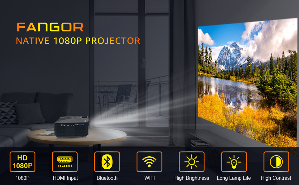 FANGOR Native 1080P Projector
