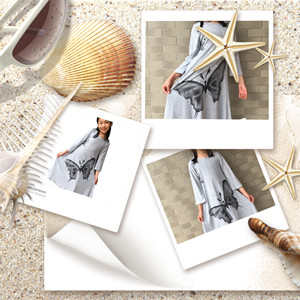Gray pretty gown casual dress