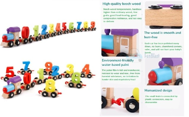wooden digital train toy, Jenga for kids, toys for 3 year old boys, toys for girls, children toys