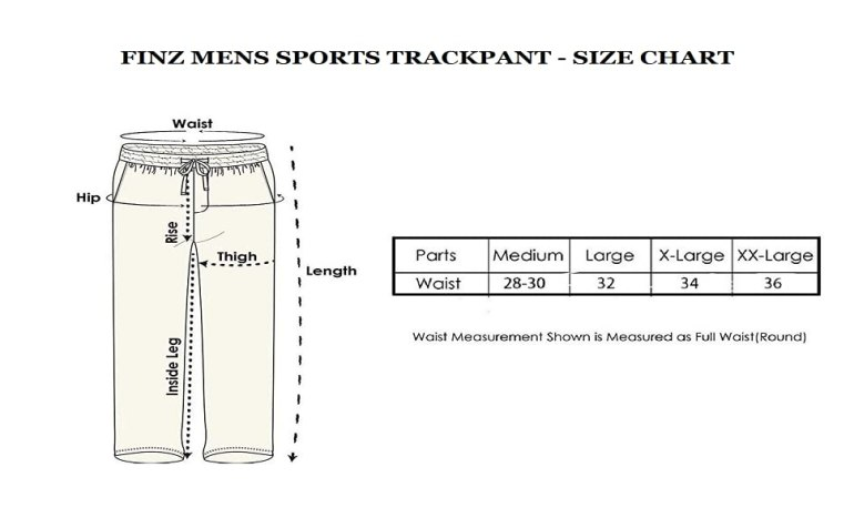 Finz Trackpant Jogger - size chart