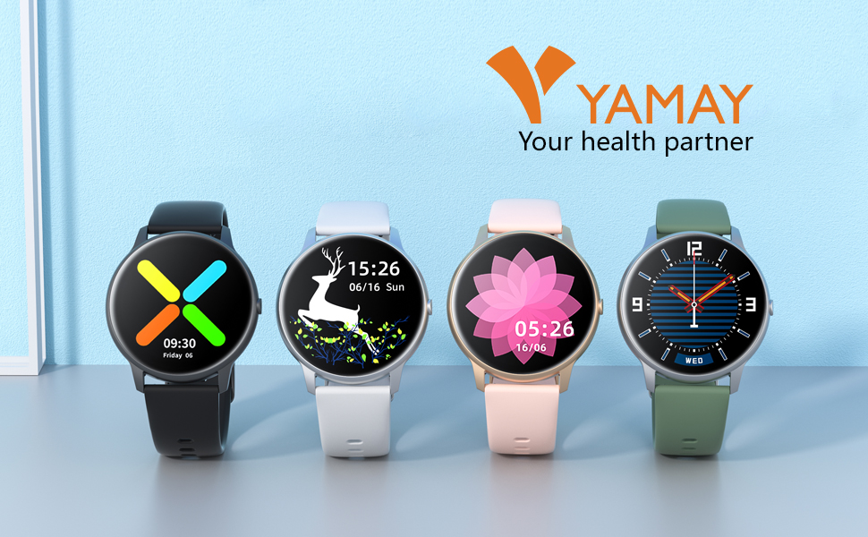 yamay smart watch for android phones, watches for men women smartwatch