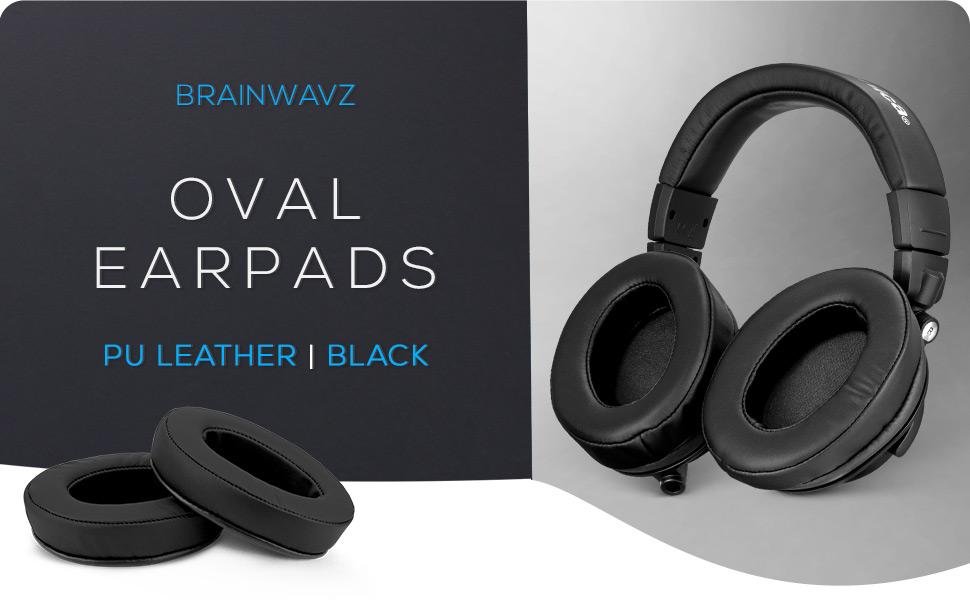 Oval earpads black