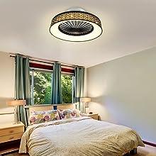 bedroom fan light