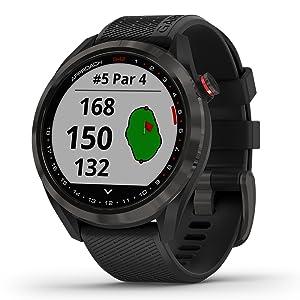 Garmin Approach S42 GPS Golf Smartwatch, Gunmetal with Black Band, 2021 Release