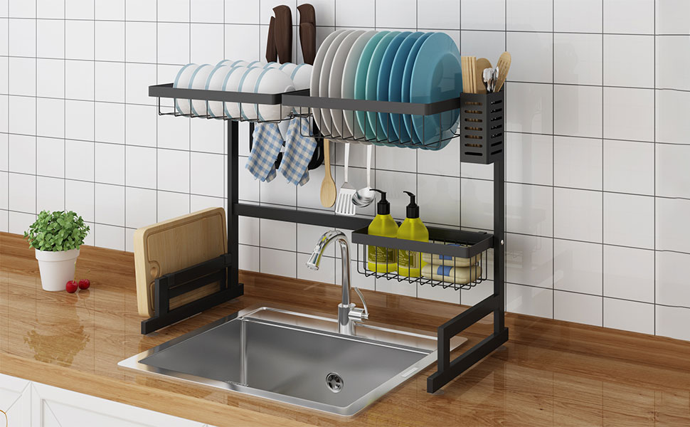 over sink dish drying rack over the sink kitchen dish rack stainless steel dish drying rack
