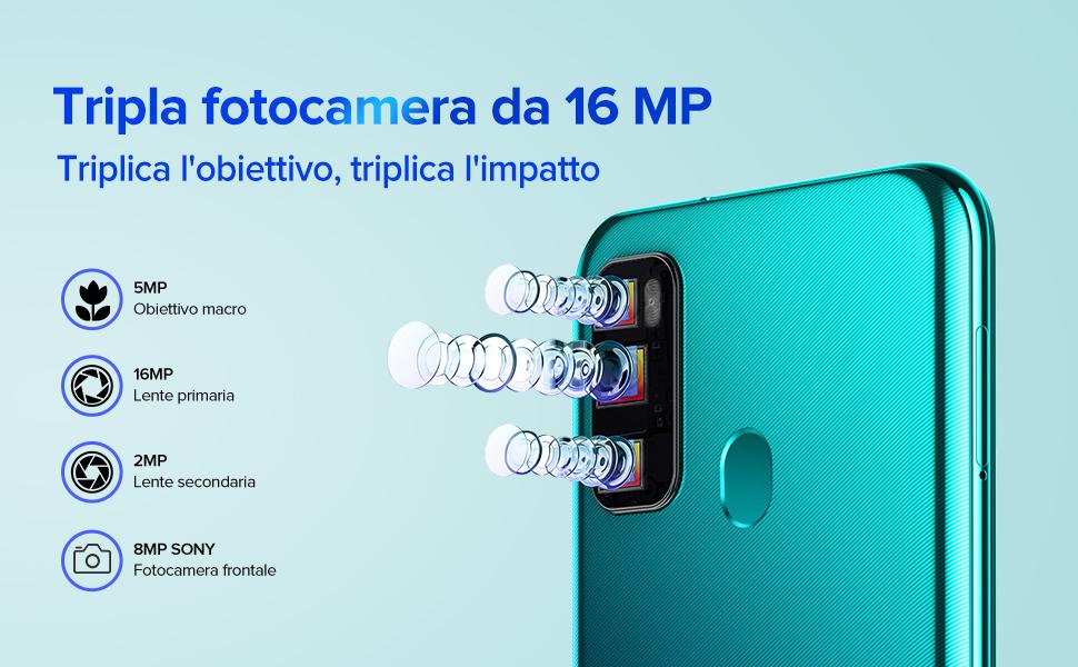 ulefone smartphone con 16mp fotocamera