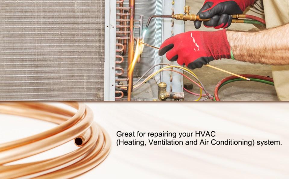 HVAC copper pipe