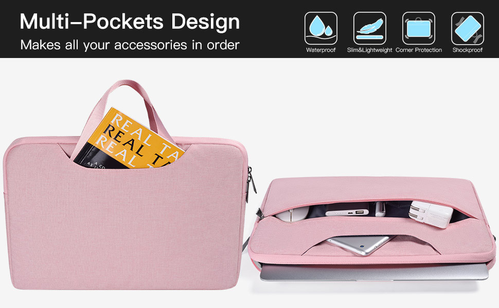 13.5-15 inch Laptop Briefcase for Men Women