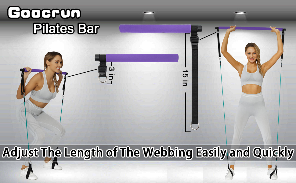 Pilates Bar with Resistance Bands