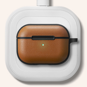 CYRILL AirPods Pro case Leather Brick - Saddle Brown