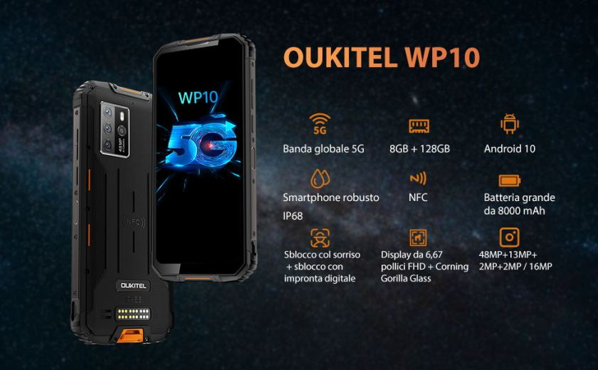 OUKITEL WP10 selling point