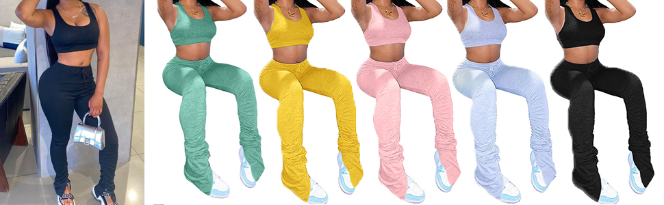 stacked pants for women