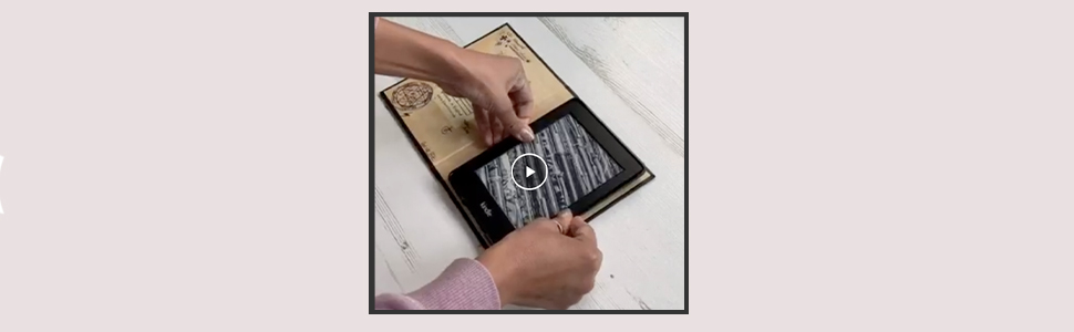 How to fit your kindle paperwhite inside a book look case by klevercase