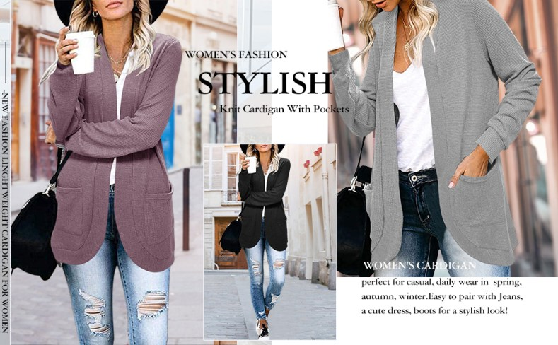 Spring Knit Cardigans For Women